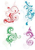 Design,Swirl,Indigenous Culture,Floral Pattern,Purple,Blue,Art,Abstract,Red,Design Element,Vector,Scroll Shape,Backgrounds,Green Color,Ornate,Curve,Curled Up,Computer Graphic,Retro Revival,Decor,Isolated,Decoration,Old-fashioned,Style,Creativity,Concepts,Shape,Wallpaper Pattern,Beauty,Ilustration,Elegance,Vector Ornaments,Illustrations And Vector Art,Vector Florals