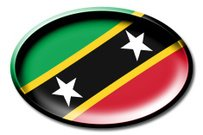 Abstract,Clip Art,Design,White,Isolated,Horizontal,Illustration,Symbol,Country - Geographic Area,Flag,Circle,Badge,Shadow,Saint Kitts and Nevis