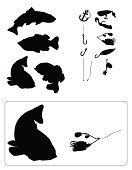 Fish,Fishing,Fishing Hook,Silhouette,Bass,Striped Bass,Vector,Salmon,Trout,Rockfish,Fishing Tackle,Fishing Bait,Grouper,Anchor,Fishing Industry,Fishing Line,Chinook Salmon,Black Bass,Tail Fin,Dorsal Fin,Saltwater Fish,Ilustration,Clip Art,Computer Graphic,Freshwater Fish,Big Game Fishing,Freshwater Fishing,Trout Fishing,Rainbow Trout,Art,Drawing - Art Product,Largemouth Bass,Speckled Trout,Swimming Animal,Casting,Sea Bass,Cutthroat Trout,Collection,Brown Trout,Lake Trout,Sockeye Salmon,Profile View,Animal Fin,Image,Coho Salmon,Bull Trout,Vector Icons,Isolated-Background Objects,Isolated Objects,Variation,Isolated On White,Illustrations And Vector Art,Sport Fish