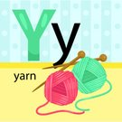 Knitting,Leisure Activity,Relaxation,Activity,Craft,Softness,Needlecraft Product,Thread,Sewing,Ball,Simplicity,Illustration,Textured,Cute,Alphabet,Wool,Letter Y,Vector
