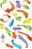 Arrow Symbol,Three-dimensional Shape,Curve,Moving Up,Symbol,Sign,Moving Down,Turning,Vector,Business,Direction,Computer Icon,right,Shiny,Leadership,Pointer Stick,Neon Light,Interface Icons,Flowing,Set,Organization Chart,Push Button,Around,Icon Set,Multi Colored,Variation,Isolated,Moving Around,Ilustration,Guidance,Flying,Design Element,Leading,Isolated On White,Collection,Vector Icons,Business Symbols/Metaphors,Illustrations And Vector Art,Business
