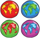 Globe - Man Made Object,Earth,Travel,Planet - Space,World Map,Colors,Group of Objects,continents,Pink Color,Icon Set,Four Objects,Multi Colored,Map,Green Color,Clip Art,Computer Icon,Set,Isolated,Illustrations And Vector Art,countries,Collection,Cartography,Ilustration,Red,Man Made Object