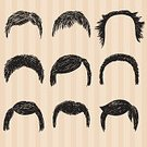 People,Human Body Part,Human Face,Beard,Mustache,Hairstyle,Child,Adult,Illustration,Men,Boys,Vector,Fashion,Collection,Arts Culture and Entertainment,2015