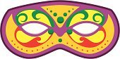 Mardi Gras,Masquerade Mask,Mask,New Orleans,Costume,Disguise,French Quarter,Purple,Illustrations And Vector Art,Holidays And Celebrations,Parties,Beauty And Health,Fashion,Vector Cartoons,Holiday,Gold Colored,Red,Green Color