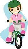 Bicycle,Cycling,Child,Little Girls,Cartoon,Riding,Vector,Ilustration,Sports Helmet,Clip Art,Sports Race,Drawing - Art Product,Transportation,Toy,Art,Exercising,Fun,Enjoyment,Lifestyle,Sports And Fitness,Illustrations And Vector Art,Motion,Individual Sports,Vector Cartoons,Isolated,Babies And Children