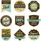 Sign,Label,Badge,Illustration,Group Of Objects,Sale,No People,Vector,Retro Styled,2015
