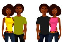 Casual Clothing,Characters,Beauty,Cartoon,Cheerful,Togetherness,Men,Pair,Boyfriend,Beautiful People,African Ethnicity,Illustration,People,Fashion,2015,Couple - Relationship,Heterosexual Couple,Happiness,104872,Individuality,Girlfriend,African-American Ethnicity,Adult,Young Adult,Cut Out,Beard,Afro,Dating,Vector,Women,Jeans