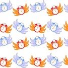 Illustration,2015,Time,Seamless Pattern,Fire - Natural Phenomenon,Spend Time,Burning,Backgrounds,Abstract,Alarm Clock,Time is Money,Substrate,Textile,Vector,Clock,Imagination