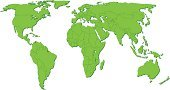 World Map,Green Color,Map,Vector,Cartography,Ilustration,Geographical Locations,Topography,Illustrations And Vector Art