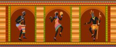 Ceremony,Ceremonial Dancing,Background,Dancing,Females,Orange Color,Silhouette,Ornate,Collection,Men,Multi Colored,Ornamented,Indigenous Culture,Summer,African Ethnicity,Illustration,People,Ebony - Wood,Fashion,Turban,2015,Spear,Cultures,Group Of People,Pattern,Dancer,African Culture,Organized Group,Adult,Backgrounds,Abstract,Ethnicity,61184,Vector,Drum - Percussion Instrument,Women,Decorative Pattern,Design,Males