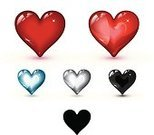 Heart Shape,Heart Suit,Heartbeat,Pulse Trace,Shiny,Healthcare And Medicine,Healthy Lifestyle,Black Color,Red,Glass - Material,Blue,Listening to Heartbeat,Taking Pulse,Religious Icon,Symbol,Cute,Vector,Love,Passion,Computer Icon,Ilustration,Curve,Vector Icons,Illustrations And Vector Art,Concepts And Ideas,Feelings And Emotions