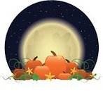 Pumpkin,Pumpkin Patch,Vine,Autumn,Halloween,Moon,Leaf,Vector,Flower,Star - Space,Ilustration,Computer Graphic,Night,Moonlight,Illustrations And Vector Art,Nature,Holidays And Celebrations,Halloween,Plants,Clip Art,Bright,Spooky,Midnight,Swirl,Curve,Dark,night sky