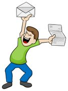 Concepts & Topics,Mail,Characters,Ideas,Message,Cheering,Paper,Cartoon,Cheerful,Men,Document,Positive Emotion,News Event,Illustration,Envelope,Receiving,Luck,Data,2015,Reading,Happiness,Smiling,Letter,Good News,Information Medium,Adult,Letter,Cut Out,Concepts,Vector,60500