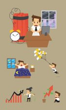 Scarecrow,Leadership,Success,Hustle,Men,Creativity,Illustration,People,Businessman,Time Bomb,Infographic,2015,Expertise,Fear,Adult,Morning,Business,Marketing,Vector,Clock,Graph,Improvement