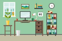 Survival,Personal Organizer,Equipment,Shelf,Office,Illustration,Flow Chart,Flat Top,Infographic,2015,Technology,Short Hair,Computer Monitor,Domestic Room,Space,Window,File,Desk,Vector,Computer,Place of Work,Working,Occupation