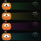 Halloween,Banner,Bat - Animal,Spooky,Pumpkin,Horror,Facial Expression,Star Shape,Ilustration,Anthropomorphic,Orange Color,Vector,Holiday Backgrounds,Vector Cartoons,Halloween,Holidays And Celebrations,Illustrations And Vector Art