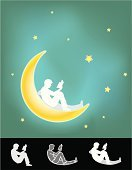 Book,Reading,Moon,Little Boys,Teenager,Silhouette,Sitting,Star - Space,Men,Abstract,Midnight,Space,Night,Studying,Moon Surface,Star Shape,Relaxation,Teenagers Only,Research,Constellation,Outline,Note Pad,Page,Teenage Boys,Drawing - Art Product,Ideas,Composition,Vector,Ilustration,Concepts,Letter,Carefree,Back Lit,Glowing,Design,Novel,Inspiration,Lifestyle,hand drawn,People,Male,Dusk,Actions