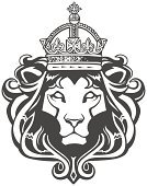 Lion - Feline,Crown,Coat Of Arms,Tattoo,heraldic,King,Nobility,Rastafarian,Animal,Haile Selassie,Medieval,Jamaica,Symbol,Ornate,Victorian Style,Ilustration,Old-fashioned,Ruler,Vector Icons,Vector Ornaments,Wild Animals,Illustrations And Vector Art,Animals And Pets