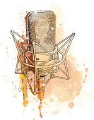 Microphone,Jazz,Retro Revival,Watercolor Painting,Studio,Music,Talk,Voice,Popular Music Concert,Singing,Rock and Roll,Vector,Grunge,Design,Listening,Performance,Broadcasting,Gold Colored,Station,Multimedia,Ilustration,Sound,Small,Play,Audio Equipment,Technology,Arts And Entertainment,Communication,Electronics,Concepts And Ideas,Communication,Technology,Information Medium,Music