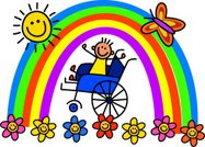 Wheelchair,Physical Impairment,Disabled,Healthcare And Medicine,Illness,Rainbow,Boys,Condition,Happiness,Cute,People,Child,Flower,Life,Lifestyles,Stick Figure,Cartoon,Childhood