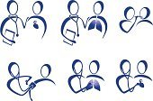 Healthcare And Medicine,Medical Exam,Doctor,Healthy Lifestyle,Symbol,Nurse,Human Lung,Stethoscope,Computer Icon,Blood Pressure Gauge,Vector,Discussion,Human Mouth,Advice,Chart,Heartbeat,Blood Flow,Blue,Listening to Heartbeat,Set,Tongue Depressor,Multiple Image,Human Tongue,Vector Icons,Medicine,Beauty And Health,Illustrations And Vector Art