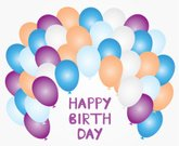Greeting Card,Celebration,No People,Illustration,Birthday,2015,Balloon,Backgrounds,Abstract,Colors,Vector,Color Image