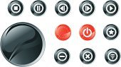 Sphere,Play,Push Button,Interface Icons,Incentive,Vector,Icon Set,Stop,Red,Symbol,Circle,Color Image,Shiny,Star Shape,Illustrations And Vector Art,Vector Icons,Technology,Curve,The Way Forward,Opening,Computer Graphic,Computer Icon,Resting