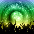 Music,Background,Dancing,Ornate,Illustration,Musical Note,People,Disco,2015,Group Of People,Crowd,Disco Dancing,EPS 10,eps10,Backgrounds,Abstract,Disco Ball,Arts Culture and Entertainment,Vector,Party - Social Event