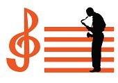 Jazz,Saxophone,Musical Staff,Music,Sheet Music,Musical Instrument,Men,Playing,Musician,Vector,Sound,One Person,Ilustration,Arts Symbols,Music,Arts And Entertainment,Illustrations And Vector Art