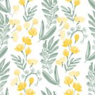 Eternity,Backgrounds,Buttercup,1940-1980 Retro-Styled Imagery,Leaf,Nature,hand drawn,Flower Head,Repetition,Textile Pattern,Vector,Seamless,Watercolor Painting,Cute,Blossom,Botany,Wallpaper Pattern,Floral Pattern,Beauty In Nature,Pattern,Springtime,Flower,Retro Styled