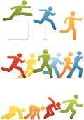 Running,Men,Jogging,Symbol,People,Track Starting Block,Relay Race,Stick Figure,Competition,Computer Icon,Hurdle,Running Track,Vector,Sprinting,Icon Set,Clip Art,Ilustration,Distance Running,Color Image,Blue,Set,Interface Icons,Shadow,Multi Colored,Yellow,Design Element,Sports Symbols/Metaphors,Vector Icons,Illustrations And Vector Art,Information Symbol,Sports And Fitness