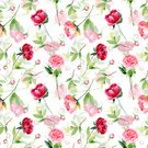 81352,Craft,Art And Craft,Plant,Art,Petal,Summer,No People,Illustration,Leaf,Flower Head,Bud,2015,Single Flower,Peony,Red,Pattern,Seamless Pattern,Floral Pattern,Watercolor Painting,Decoration,Pink Color,Square,Retro Styled,Blossom,Bouquet,Decor,Springtime,Single Object,Green Color