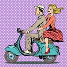 Human Face,Illustration,Spotted,Pop Art,Comic Book,Vector,Halftone Pattern,Women,Motorcycle,Car Rental,Love,Men