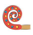 Incomplete,Party Horn Blower,Celebration,No People,Illustration,Birthday,Trombone,2015,Decoration,Tuba,Vector