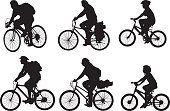 Bicycle,Cycling,Silhouette,Child,Family,Cycle,Back Lit,BMX Cycling,Sport,Outline,Offspring,People,Father,Little Girls,Son,Little Boys,Mother,Action,Isolated On White,Isolated,Black Color,Tracing,Exercising,Group Of People,Healthy Lifestyle,Relaxation,Cut Out,Shape,Clip Art,Daughter,Focus on Shadow,Families,People,Babies And Children,Set,Lifestyle