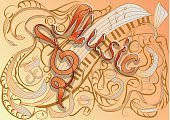 Key,Scroll,Computer Graphics,Symbol,Sign,Creativity,Toned Image,Design,Pattern,Modern,Decoration,Backgrounds,Musical Note,Treble Clef,Computer Graphic,Music,Scroll,Abstract,Noise,Illustration,Sound,No People,Vector,Swirl,Flowing,Arts Culture and Entertainment,2015