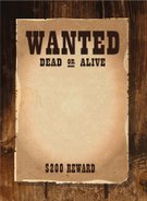 ... Single Word,Wanted Poster,Southwest USA,Wild West,Old Fashioned, ...  Old Fashioned Wanted Poster