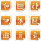Home Video Camera,Television Set,Symbol,Remote Control,Computer Icon,Sitting,The Media,Icon Set,Orange Color,Multimedia,Interface Icons,Iconset,Volume - Fluid Capacity,Label,Sign,Keypad,Internet,Vector,Microphone,Sound Mixer,Square Shape,Sound,Sticky,Antenna - Aerial,Technology Symbols/Metaphors,Headphones,Technology,Computers,Contour Drawing,Simplicity,Vector Icons,Stereo,Outline,Sea,Peeled,Speaker,Shiny,Illustrations And Vector Art,Web Page