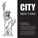 Symbol,Sign,Unity,History,Architecture,Sculpture,Label,Tourist,USA,Statue,Famous Place,National Landmark,Backgrounds,Adult,Crown,Patriotism,Illustration,Women,Vector,July,Background,2015,Statue Of Liberty Icon