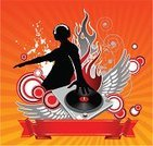 Club Dj,Disco,Turntable,Techno,Music,Party - Social Event,Mixing,Vector,Design,Teenager,Clubbing,Ilustration,Dancing,Youth Culture,Disk,Sound,Record,Rock and Roll,Equipment,Curve,Plate,Nightlife,Nightclub,Headphones,Audio Equipment,Disco Dancing,Entertainment,Relaxation,People,Music,Modern,Arts And Entertainment,Illustrations And Vector Art,Ornate,Gray,Audio Electronics