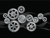 Sprocket,Gear,Production Line,Automated,Industry,Engine,Wheel,Machine Part,Metal,gearing,Industry,Retail/Service Industry,Heavy Industry,Illustrations And Vector Art,Vector Backgrounds