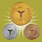 Caduceus,Healthcare And Medicine,Medical Symbol,Coin,Gold Colored,Symbol,Gold,Insignia,Badge,Metal,Elegance,Sign,Perfection,Shiny,Silver Colored,Care,Silver - Metal,Wing,Clip Art,Laurel Wreath,Bronze,Metallic,Vector,Snake,Bronze,Art,Vector Icons,Set,Cute,Computer Graphic,Ilustration,Awe,Image,Collection,Ornate,Variation,Disbelief,Industry,Isolated,Isolated On White,Illustrations And Vector Art,Health Care,Design