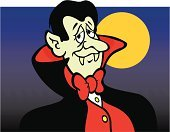 Vampire,Count Dracula,Fang,Cape,Halloween,Full Moon,Portrait,Night,Red,Spooky,Moon,Vector,Halloween,Counts,People,Holidays And Celebrations,Illustrations And Vector Art