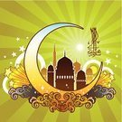 Islam,Arabic Script,Mosque,Calligraphy,Crescent,Celebration,Vector,Decoration,allah,Minaret,Architecture,Ilustration,Religion,Silhouette,Cultures,Monument,Built Structure,Plant,Religion,Vector Ornaments,Holidays And Celebrations,Star Shape,Spirituality,Concepts And Ideas,Illustrations And Vector Art