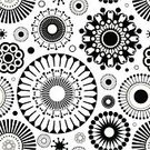 Black Color,Pattern,White,Seamless,Geometric Shape,Floral Pattern,Flower,Circle,Backgrounds,Abstract,Textile,Drawing - Art Product,Vector,Design,Art,Textured Effect,Decoration,Flower Bed,Bouquet,Wallpaper Pattern,Wrapping Paper,Ilustration,Art Product,Painted Image,Creativity,Petal,Bud,Beautiful,Vector Ornaments,Illustrations And Vector Art,Vector Backgrounds,Vector Florals