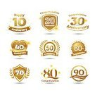 Celebration,No People,Anniversary,Memorial,Sparkler,Sign,Candle,Ornate,Congratulating,Collection,Illustration,Birthday,Symbol,2015,Insignia,Decoration,Event,Vector,Label,Badge
