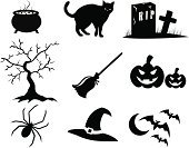 Halloween,Domestic Cat,Silhouette,Bat - Animal,Cauldron,Symbol,Spider,Religious Icon,Broom,Tree,Computer Icon,Black Color,Cemetery,Pumpkin,Spooky,Hat,Sign,Grave,Rest In Peace,Vector,Moon,Death,Horror,Autumn,Cross,Design,Oak,Fear,Old,Ilustration,Abstract,Cross Shape,Night,Funky,Celebration,Vector Icons,Modern,Dark,Halloween,Holidays And Celebrations,October,Illustrations And Vector Art,Arts And Entertainment,Arts Symbols