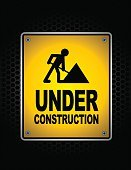 Safety,Built Structure,Danger,Sign,Construction Industry,Industry,Textured Effect,Design,Warning Sign,Black Color,Yellow,Night,Silhouette,Construction Site,Backgrounds,Chainlink Fence,Illustration,Copy Space,Vector,Background,2015,Texture Effect,Business Finance and Industry