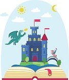 Geographical Locations,Fantasy,History,Architecture,Castle,Fort,Reading,Ancient,Tree,Wind,Sky,Moon,Learning,Rawthey River,Princess,Knighting,Illustration,Royalty,Keep,Arts Culture and Entertainment,Mark Noble,Town Of Strong
