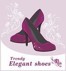 Glamour,Luxury,Shoe,Personal Accessory,Cool Attitude,Lifestyles,Purple,Old-fashioned,Textile,Leather,Tall - High,Beauty,Buying,Adult,Ornate,Illustration,Floral Pattern,Females,Women,Vector,Consumerism,Femininity,Inflorescence,Beautiful People,2015,Flourish,Fashionable,Blooming Cherry